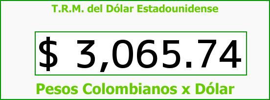 T.R.M. del Dólar para hoy Miércoles 23 de Septiembre de 2015