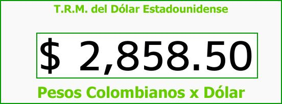 T.R.M. del Dólar para hoy Miércoles 24 de Enero de 2018