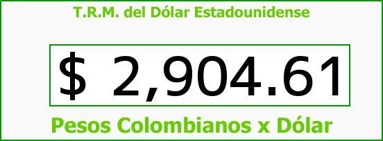 T.R.M. del Dólar para hoy Miércoles 24 de Mayo de 2017