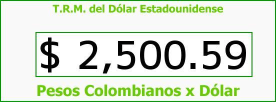 T.R.M. del Dólar para hoy Miércoles 25 de Febrero de 2015