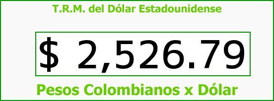 T.R.M. del Dólar para hoy Miércoles 25 de Marzo de 2015