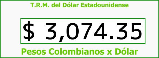 T.R.M. del Dólar para hoy Miércoles 25 de Noviembre de 2015