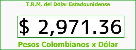 T.R.M. del Dólar para hoy Miércoles 25 de Octubre de 2017