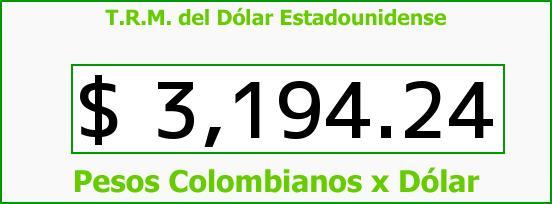 T.R.M. del Dólar para hoy Miércoles 26 de Agosto de 2015