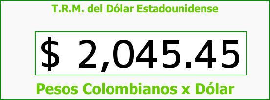 T.R.M. del Dólar para hoy Miércoles 26 de Febrero de 2014