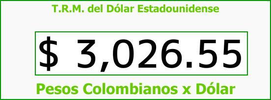 T.R.M. del Dólar para hoy Miércoles 26 de Julio de 2017