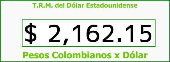 T.R.M. del Dólar para hoy Miércoles 26 de Noviembre de 2014