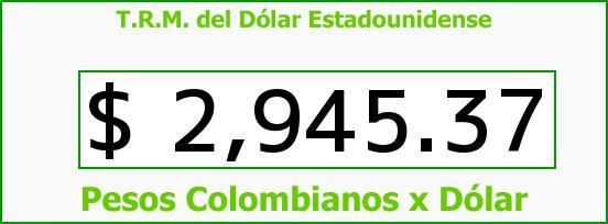 T.R.M. del Dólar para hoy Miércoles 27 de Abril de 2016