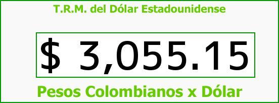 T.R.M. del Dólar para hoy Miércoles 27 de Julio de 2016