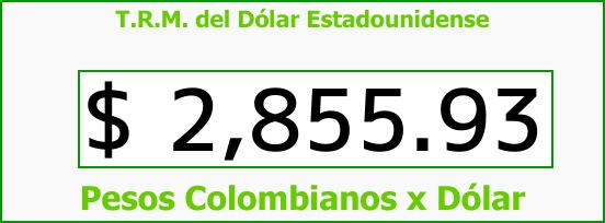 T.R.M. del Dólar para hoy Miércoles 28 de Febrero de 2018