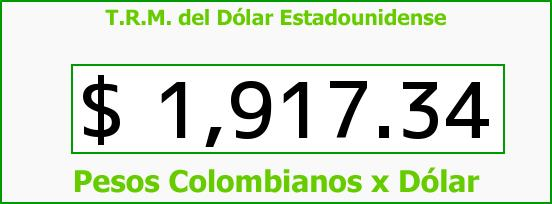T.R.M. del Dólar para hoy Miércoles 28 de Mayo de 2014