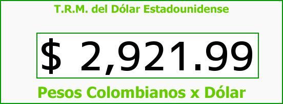 T.R.M. del Dólar para hoy Miércoles 28 de Septiembre de 2016