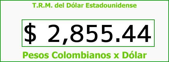 T.R.M. del Dólar para hoy Miércoles 29 de Julio de 2015