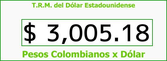 T.R.M. del Dólar para hoy Miércoles 29 de Junio de 2016