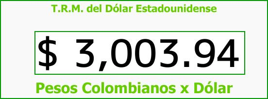 T.R.M. del Dólar para hoy Miércoles 29 de Noviembre de 2017