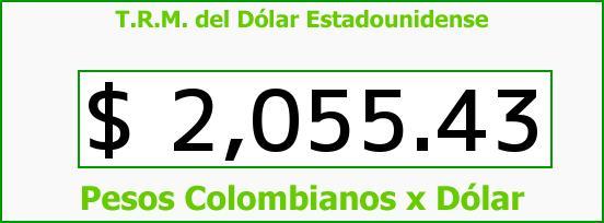 T.R.M. del Dólar para hoy Miércoles 29 de Octubre de 2014