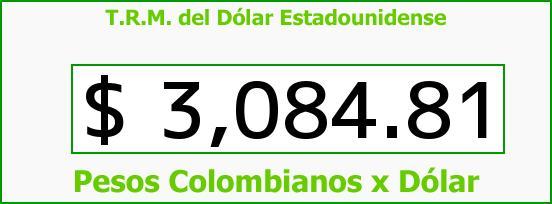 T.R.M. del Dólar para hoy Miércoles 3 de Agosto de 2016