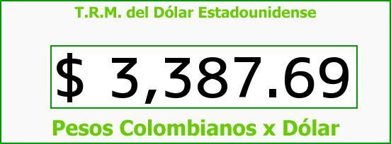 T.R.M. del Dólar para hoy Miércoles 3 de Febrero de 2016