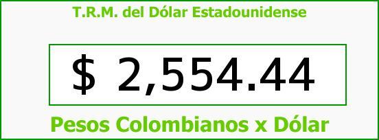 T.R.M. del Dólar para hoy Miércoles 3 de Junio de 2015