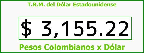 T.R.M. del Dólar para hoy Miércoles 30 de Diciembre de 2015