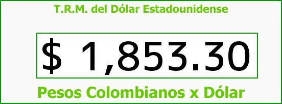T.R.M. del Dólar para hoy Miércoles 30 de Julio de 2014