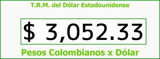 T.R.M. del Dólar para hoy Miércoles 30 de Marzo de 2016