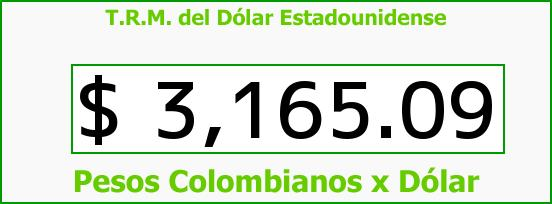 T.R.M. del Dólar para hoy Miércoles 30 de Noviembre de 2016