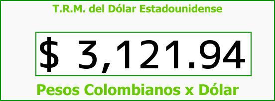 T.R.M. del Dólar para hoy Miércoles 30 de Septiembre de 2015