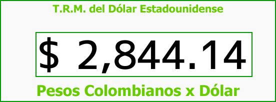 T.R.M. del Dólar para hoy Miércoles 31 de Enero de 2018