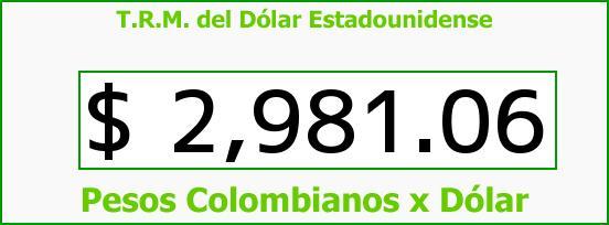 T.R.M. del Dólar para hoy Miércoles 4 de Enero de 2017