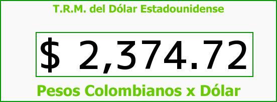 T.R.M. del Dólar para hoy Miércoles 4 de Febrero de 2015