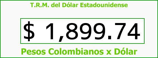 T.R.M. del Dólar para hoy Miércoles 4 de Junio de 2014