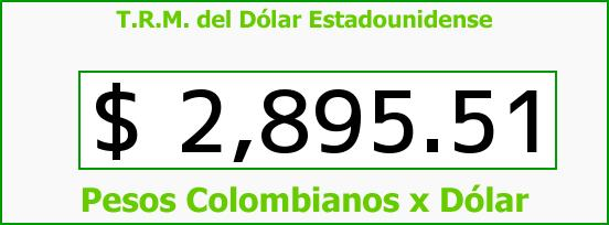 T.R.M. del Dólar para hoy Miércoles 4 de Mayo de 2016