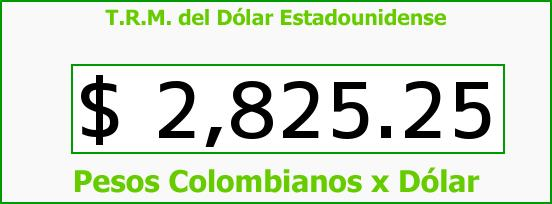 T.R.M. del Dólar para hoy Miércoles 4 de Noviembre de 2015