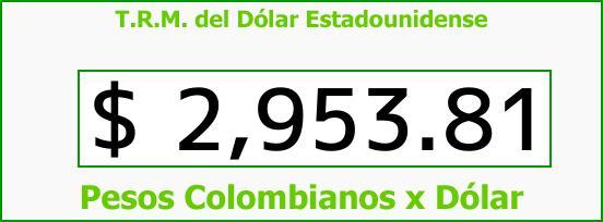 T.R.M. del Dólar para hoy Miércoles 4 de Octubre de 2017