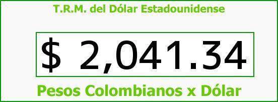 T.R.M. del Dólar para hoy Miércoles 5 de Febrero de 2014