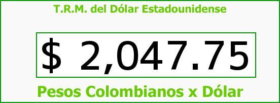 T.R.M. del Dólar para hoy Miércoles 5 de Marzo de 2014