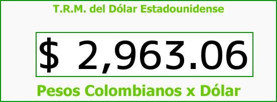 T.R.M. del Dólar para hoy Miércoles 5 de Octubre de 2016