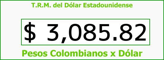 T.R.M. del Dólar para hoy Miércoles 6 de Abril de 2016