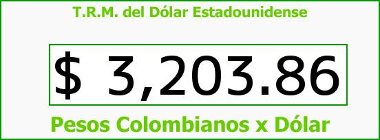 T.R.M. del Dólar para hoy Miércoles 6 de Enero de 2016