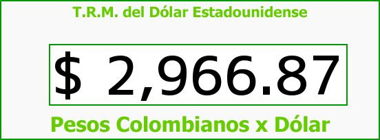 T.R.M. del Dólar para hoy Miércoles 6 de Julio de 2016
