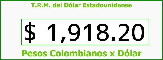 T.R.M. del Dólar para hoy Miércoles 7 de Mayo de 2014
