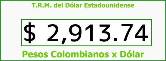 T.R.M. del Dólar para hoy Miércoles 7 de Octubre de 2015