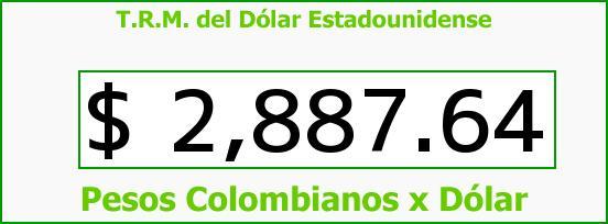 T.R.M. del Dólar para hoy Miércoles 7 de Septiembre de 2016