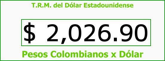 T.R.M. del Dólar para hoy Miércoles 8 de Octubre de 2014