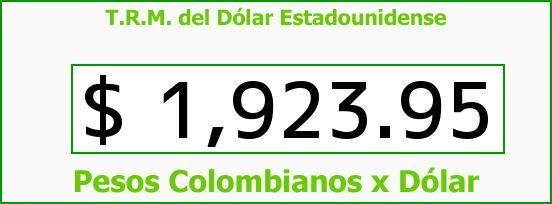 T.R.M. del Dólar para hoy Miércoles 9 de Abril de 2014