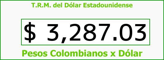 T.R.M. del Dólar para hoy Miércoles 9 de Diciembre de 2015