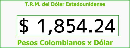 T.R.M. del Dólar para hoy Miércoles 9 de Julio de 2014