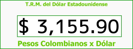 T.R.M. del Dólar para hoy Miércoles 9 de Marzo de 2016