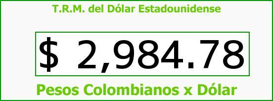 T.R.M. del Dólar para hoy Miércoles 9 de Noviembre de 2016